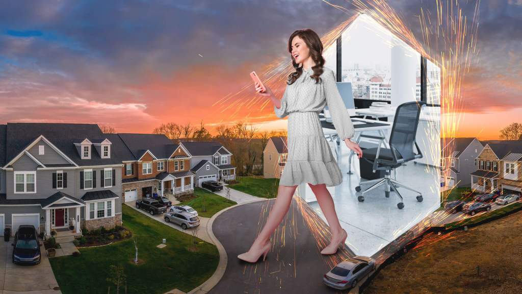 Real Estate agent teleporting to new home