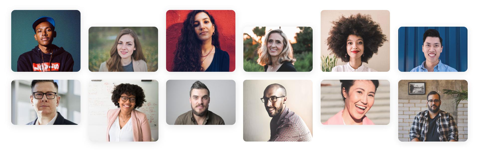 Photo collage of individuals representing CoreLogic career hopefulls