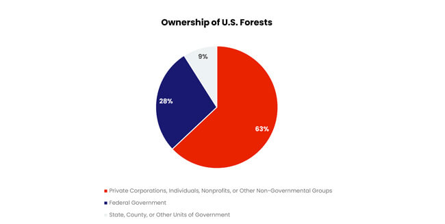 Figure 1 Ownership of US Forests