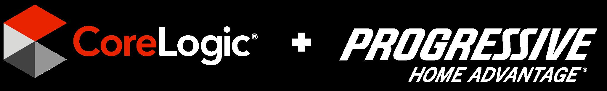Logos: CoreLogic + Progressive Home Advantage